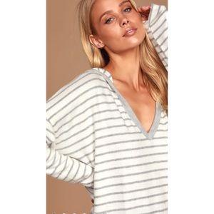 Lulu's | Cozy Striped Hoodie